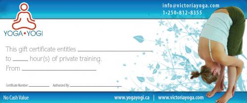 Yoga Private Training Gift Certificate