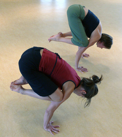 hatha yoga double crow